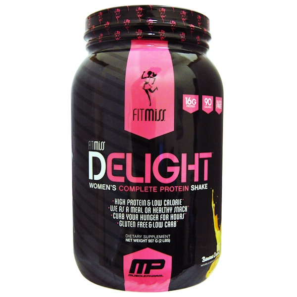 FitMiss, Delight, Women's Complete Protein Shake, Banana Cream, 2 lbs (907 g) (Discontinued Item)