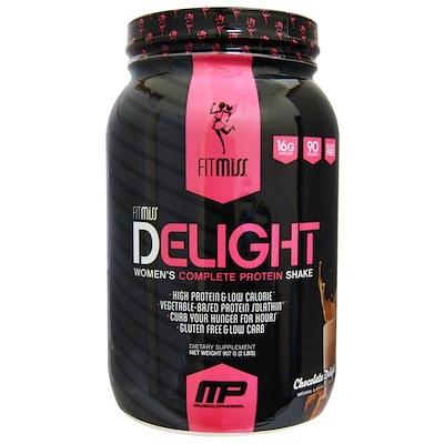 Delight, протеиновый коктейль для женщин, со вкусом шоколада, 907 г (2 фунта) недорого