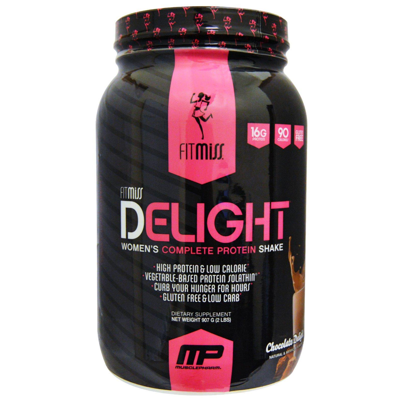 Fitmiss Delight مشروب البروتين الكامل للنساء متعة الشوكولا 2 رطل 907 غ Iherb