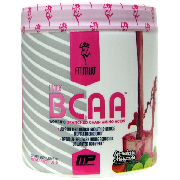 FitMiss, BCAA, Women's Branched Chain Amino Acids, Strawberry Margarita, 5.6 oz (159 g) (Discontinued Item)