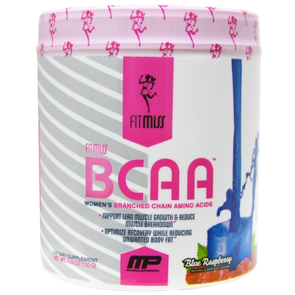 FitMiss, BCAA, Women's Branched Chain Amino Acids, Blue Raspberry, 5.29 oz (150 g) (Discontinued Item)