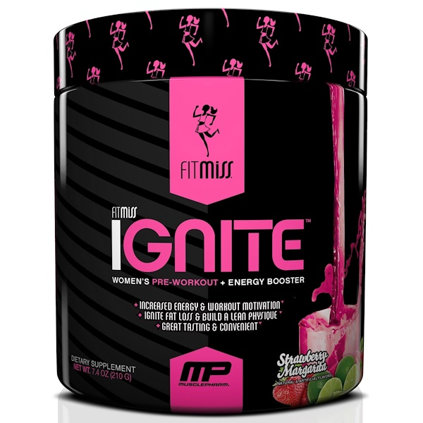 FitMiss, Ignite, Strawberry Margarita, 8.46 oz (240 g)