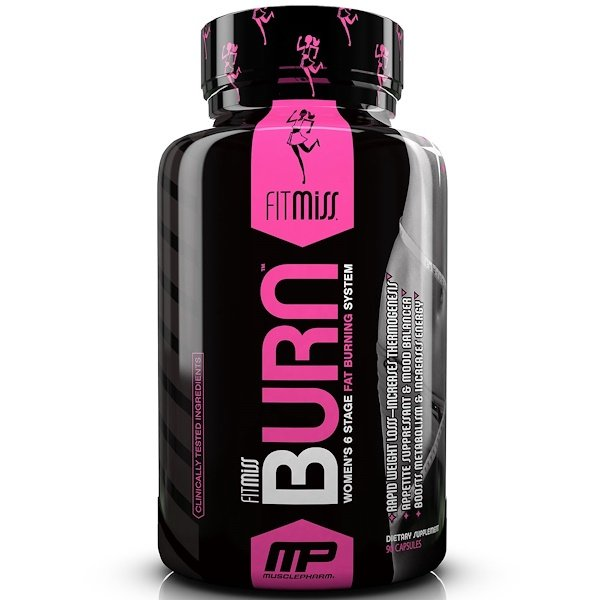 FitMiss, Burn, Women's 6 Stage Fat Burning System, 90 Capsules (Discontinued Item)