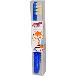 Фьюкс Брашес, Junior Natur, Natural Bristle Toothbrush, Child Medium, 1 Toothbrush отзывы
