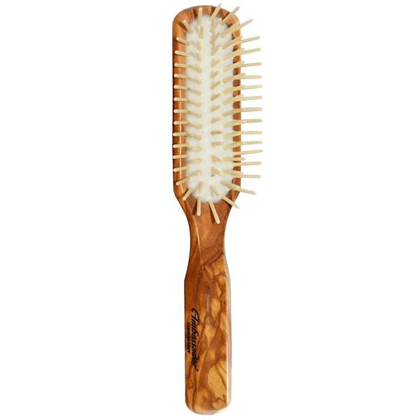 Fuchs Brushes, إمباسدور فرشاة الشعر ، خشب الزيتون مستطيل / دبابيس الخشب، 1 فرشاة الشعر (Discontinued Item)