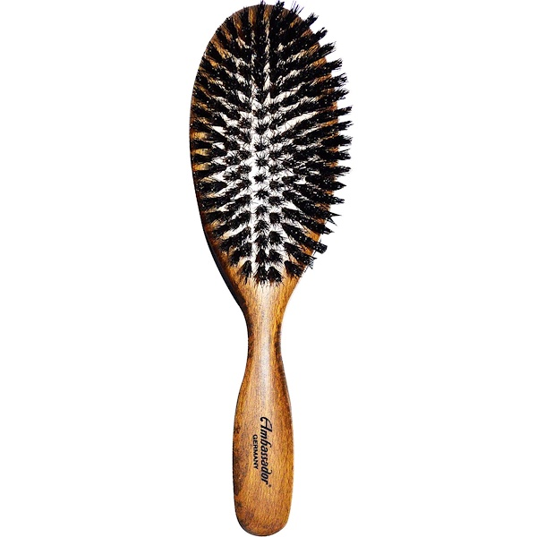 Fuchs Brushes, Ambassador Hair Brush, Oval Wood, 1 Brush (Discontinued Item)