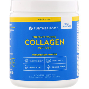 Further Foods, Premium Marine Collagen Peptides, Unflavored, 6.5 oz (185 g)