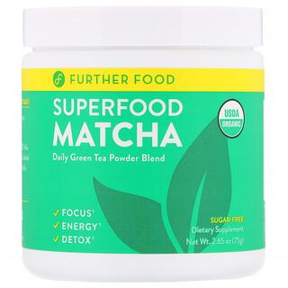 Further Food, SuperFood 抹茶,2.65 盎司(75 克)