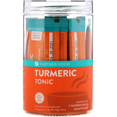 Further Food Turmeric Tonic, 20 Packets, 0.07 oz oz (2 g) Each