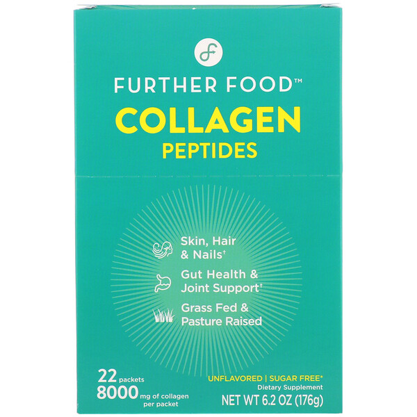 Further Food, Collagen Peptides, Unflavored, 22 Packs, 0.28 oz (8 g) Each