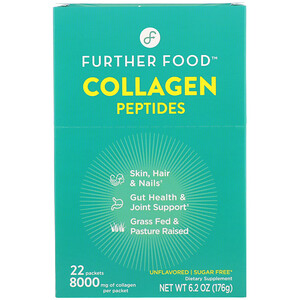 Further Foods, Collagen Peptides, Unflavored, 22 Packs, 0.28 oz (8 g) Each