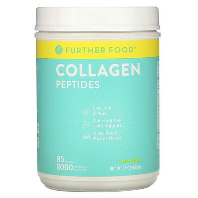 Купить Further Food Collagen Peptides, Unflavored, 8, 000 mg, 24 oz (680 g)