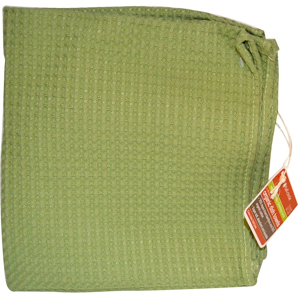 "Full Circle, In The Buff, Organic Dish Towels, Green, 1 Towel, 16"" X 26"" (Discontinued Item)"