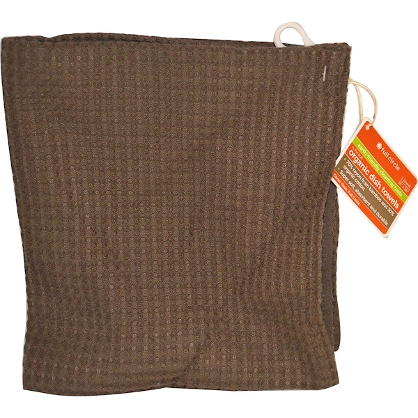 "Full Circle, In The Buff, Organic Dish Towels, Brown, 1 Towel, 16"" x 26"" (Discontinued Item)"