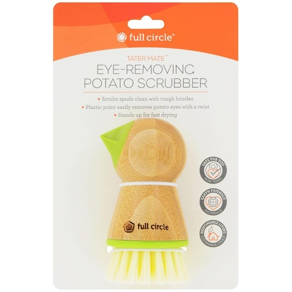 Full Circle, Tater Mate, Eye-Removing Potato Scrubber, 1 Brush (Discontinued Item)