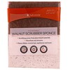 """Full Circle, En Conjunto, Esponja Exfoliadora Nogal, 2 Empaques, 4.4"""" x 2.75"""" c/u"""