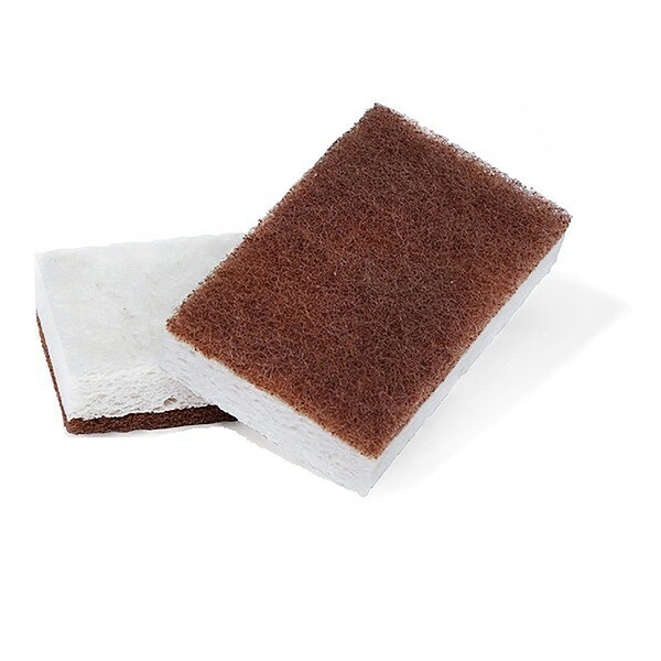 "In A Nutshell, Walnut Scrubber Sponge, 2 Pack, 4.4"" x 2.75"" Each"