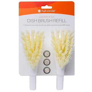 Full Circle, Laid Back 2.0, Dish Brush Refills, 2 Brush Refills