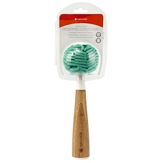 Full Circle, Crystal Clear 2.0, Replaceable Glass Cleaner, 1 Sponge w/ Handle