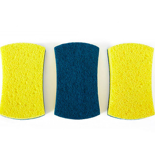 Full Circle, Refresh, Scrubber Sponge, 3 Pack
