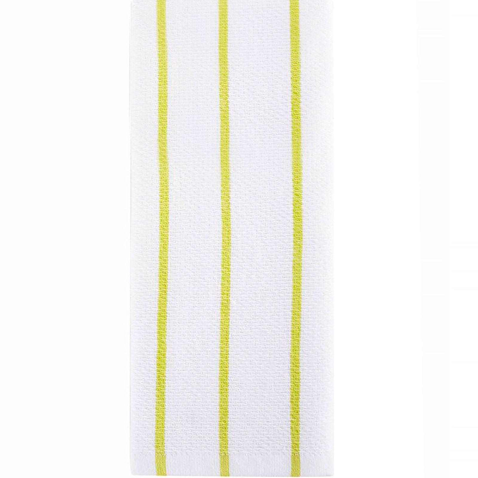 Full Circle, Hue, Modern Kitchen Towels, Lime Stripes, 1 Towel, 15 ...