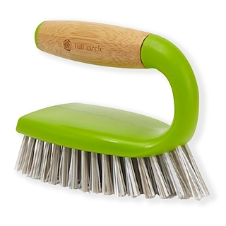 Full Circle, Tough Stuff, All-Purpose Scrub Brush, Green, 1 Brush
