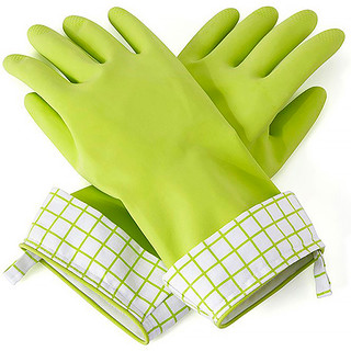 Full Circle, Splash Patrol, Natural Latex Cleaning Gloves, M/L, Green, 1 Pair