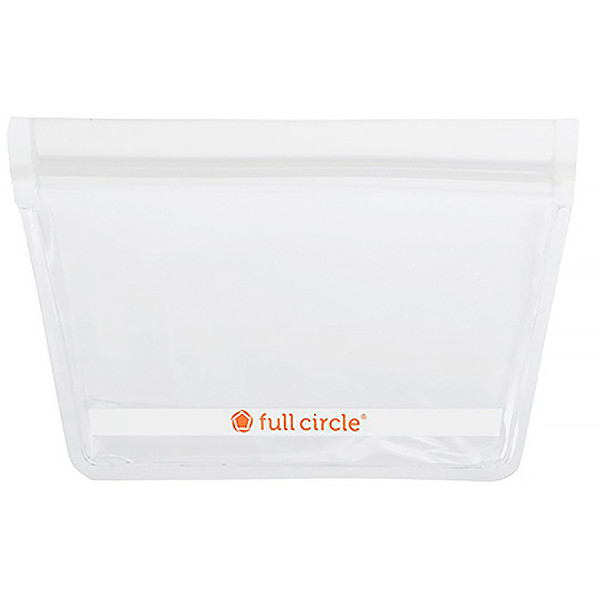 Full Circle, ZipTuck, Reusable Snack Bags, Clear, 2 Bags