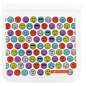 Фулл Серкл Хоум ЛЛС, ZipTuck, Reusable Lunch Bag Set, Emojis, 1 Sandwich + 1 Snack отзывы