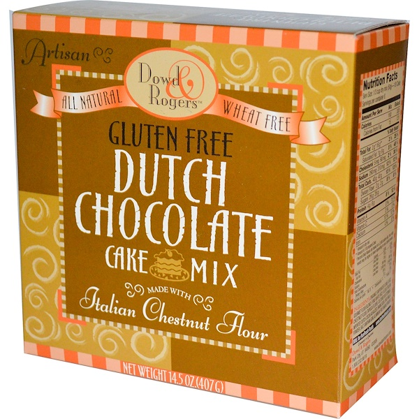 Fun Fresh Foods, Dowd & Rogers, Gluten Free Dutch Chocolate Cake Mix, 14.5 oz (407 g) (Discontinued Item)