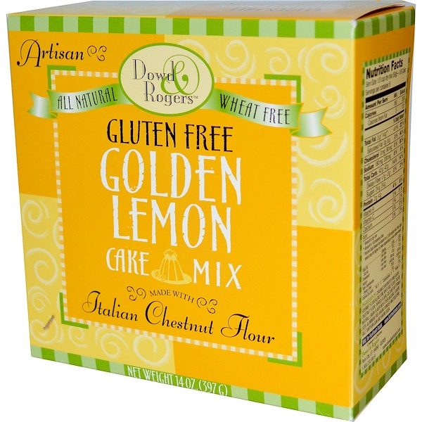 Fun Fresh Foods, Dowd & Rodgers, смесь для выпекания торта, без глютена, золотой лимон 14 унции (397 г) (Discontinued Item)