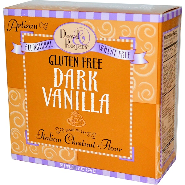Fun Fresh Foods, Dowd & Rogers, Gluten Free Cake Mix, Dark Vanilla, 14 oz  (397g) (Discontinued Item)