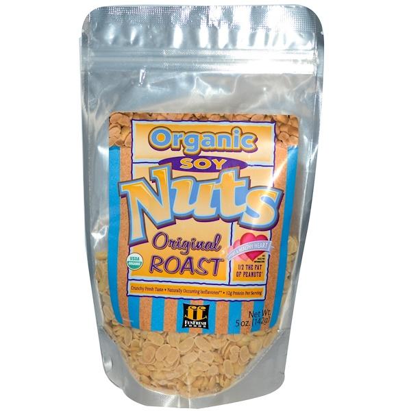 Fun Fresh Foods, Organic Soy Nuts, Original Roast, 5 oz (142 g) (Discontinued Item)