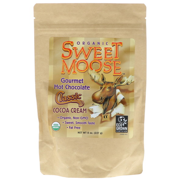 FunFresh Foods, Sweet Moose, Gourmet Hot Chocolate, Classic Cocoa Cream, 8 oz (227g)