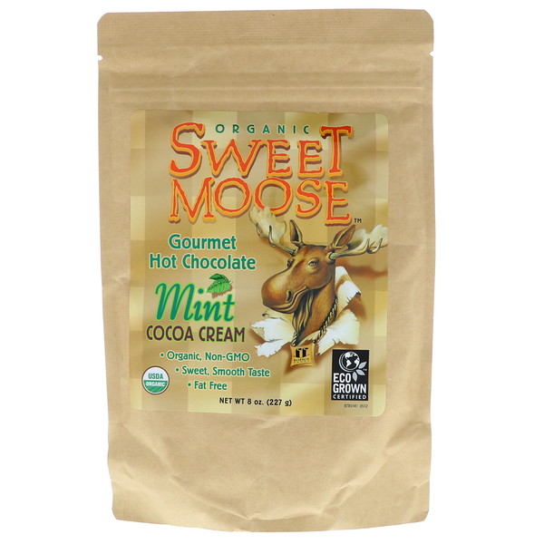 FunFresh Foods, Sweet Moose, Gourmet Hot Chocolate, Mint Cocoa Cream, 8 oz (227 g) (Discontinued Item)