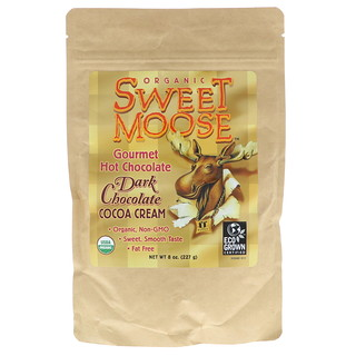 FunFresh Foods, Sweet Moose, Gourmet Hot Chocolate, Dark Chocolate Cocoa Cream, 8 oz (227 g)