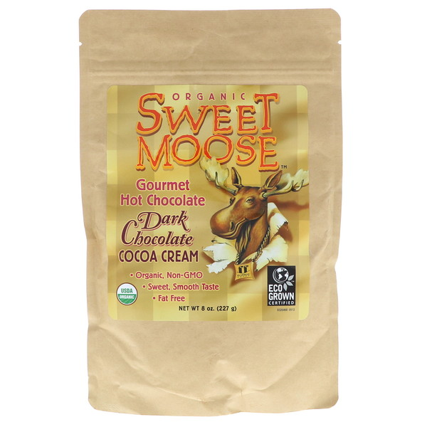 Sweet Moose, Gourmet Hot Chocolate, Dark Chocolate Cocoa Cream, 8 oz (227 g)