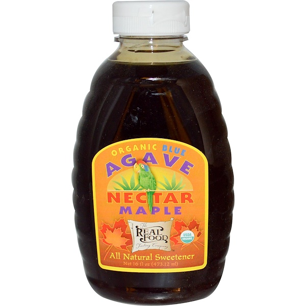 Fun Fresh Foods, Organic Blue Agave Nectar, Maple, 16 fl oz (473.12 ml) (Discontinued Item)