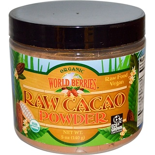 FunFresh Foods, Organic, Raw Cacao Powder, 5 oz (140 g)