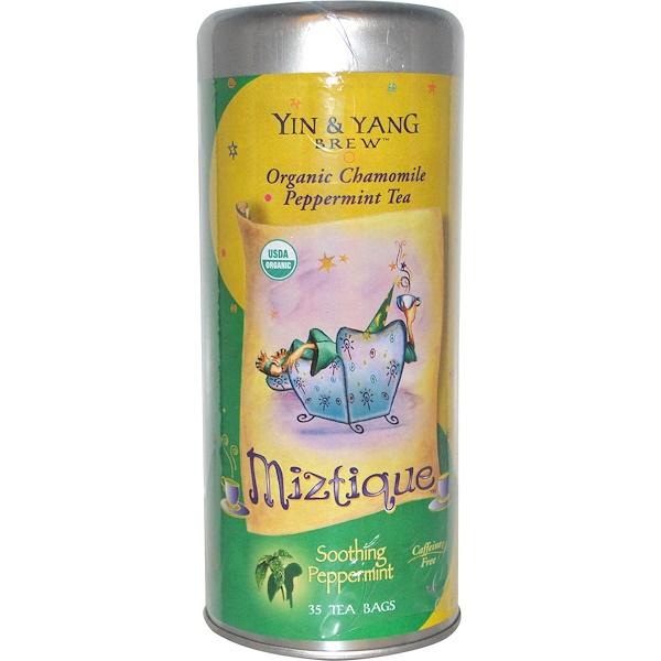 Fun Fresh Foods, Yin & Yang Brew, Miztique, успокаивающая мята, без кофеина 35 чайных пакетиков (Discontinued Item)