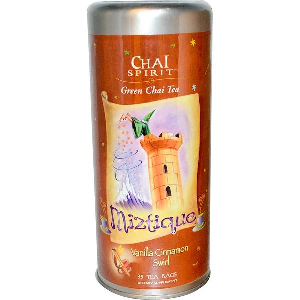 FunFresh Foods, Miztique, Chia Spirit, Green Chia Tea, Vanilla Cinnamon Swirl, 35 Tea Bags (Discontinued Item)