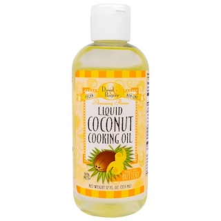 Fun Fresh Foods, Liquid Coconut Cooking Oil, Dairy Free Buttery, 12 fl oz (355 ml)