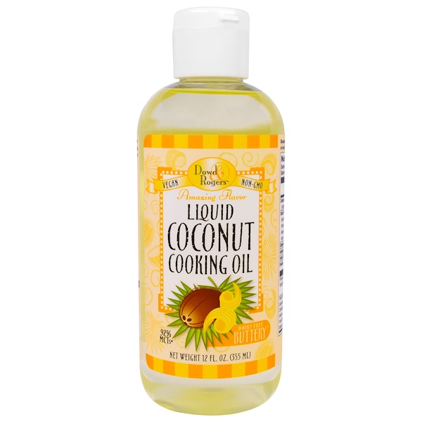 FunFresh Foods, Liquid Coconut Cooking Oil, Dairy Free Buttery, 12 fl oz (355 ml) (Discontinued Item)