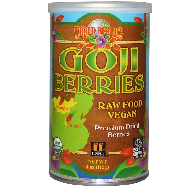 FunFresh Foods, World Berries, Goji Berries, 4 oz (112 g) (Discontinued Item)