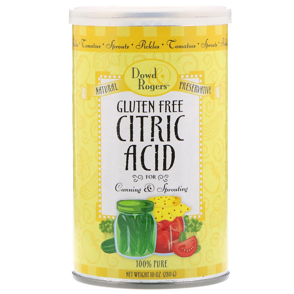 FunFresh Foods, Dowd & Rodgers, Citric Acid, 10 oz (280 g)