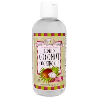 Fun Fresh Foods, Liquid Coconut Cooking Oil, Garlic Natural Flavor , 12 fl oz (355 ml)