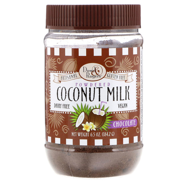 FunFresh Foods, Dowd & Rodgers, Coconut Milk Powder, Chocolate 6.5 oz (184.2 g) (Discontinued Item)
