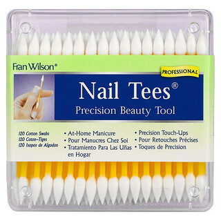 Fran Wilson, Nail Tees, Precision Beauty Tools, 120 Cotton Swabs