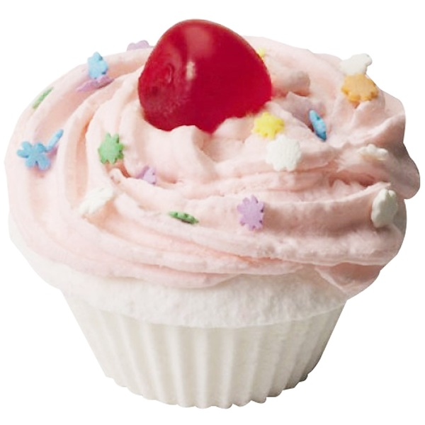 Smith & Vandiver, The Fizzy Baker, Cupcake Bath Fizz, Cherry, 5.25 oz (148 g) (Discontinued Item)