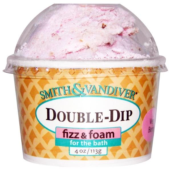 Smith & Vandiver, Double-Dip Fizz & Foam, Very Berry, 4 oz (113 g) (Discontinued Item)